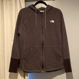 The North Face Grey/Black Zip Hoodie XL EUC